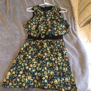 Zara summer dress with mesh stomach